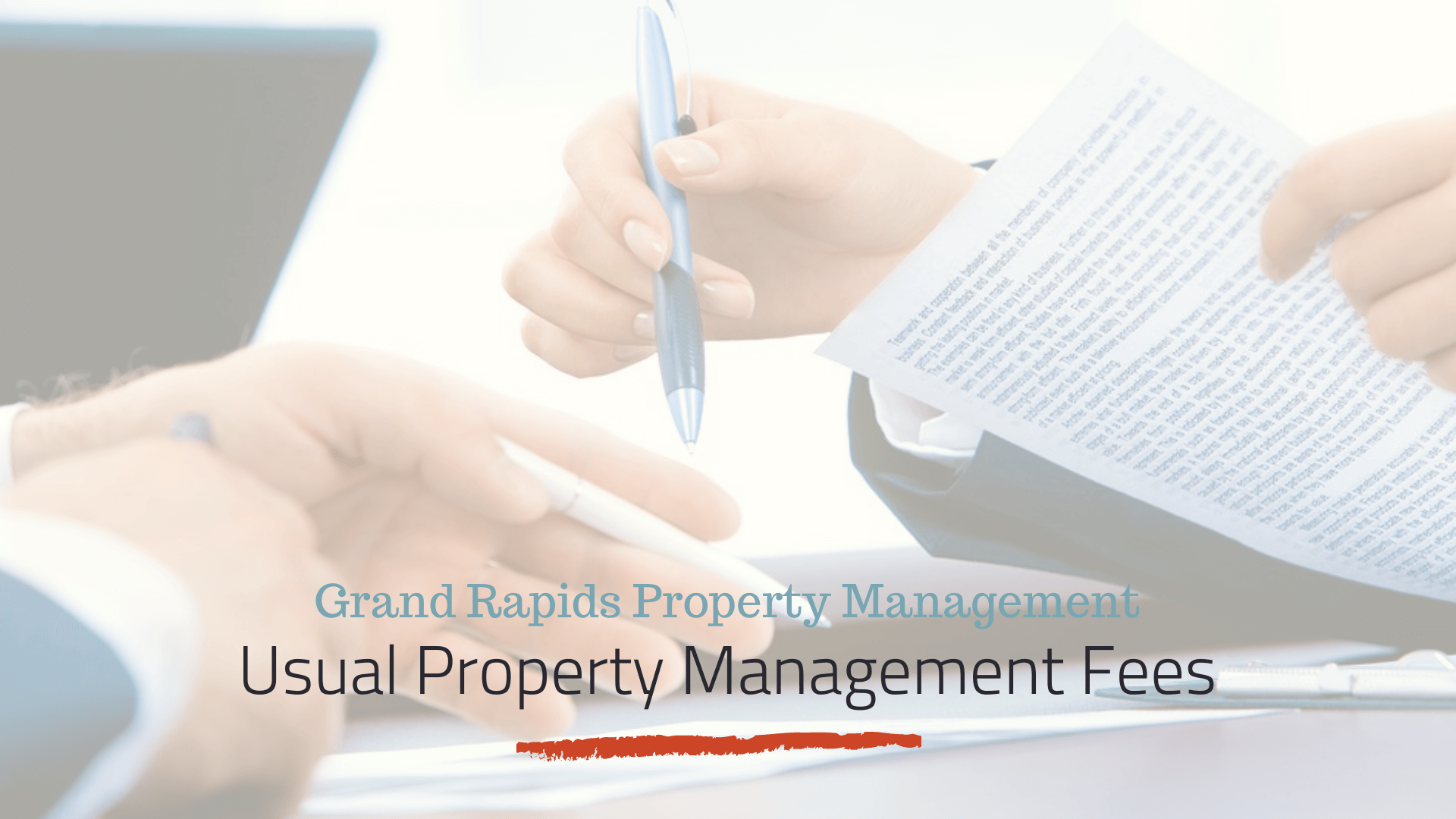 What Are Usual Property Management Fees in Grand Rapids
